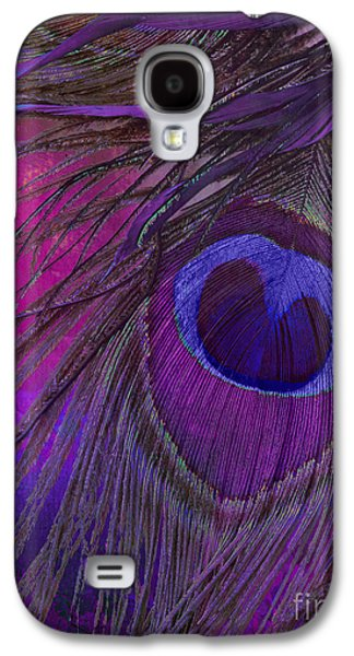Peacock Candy Purple  Galaxy S4 Case by Mindy Sommers