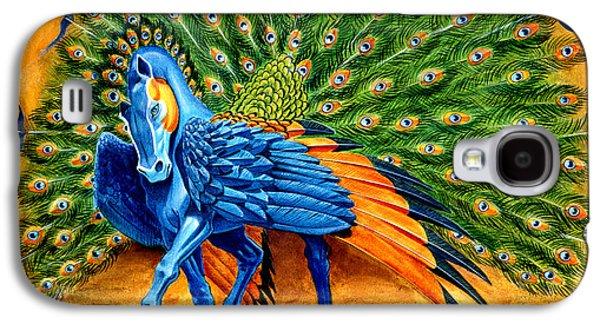 Peacock Pegasus Galaxy S4 Case by Melissa A Benson