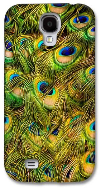 Galaxy S4 Case featuring the photograph Peacock Tails by Rikk Flohr