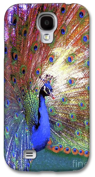 Peacock Wonder, Colorful Art Galaxy S4 Case
