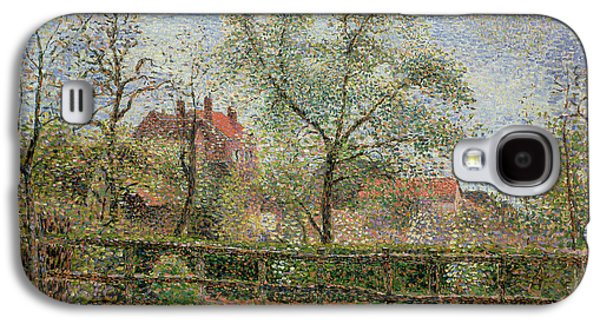 Pear Trees And Flowers At Eragny Galaxy S4 Case by Camille Pissarro