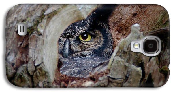 Peek A Boo Owl Galaxy S4 Case