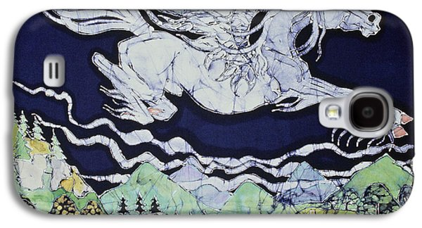 Fantasy Tapestries - Textiles Galaxy S4 Cases - Pegasus Flying Over Stream Galaxy S4 Case by Carol  Law Conklin