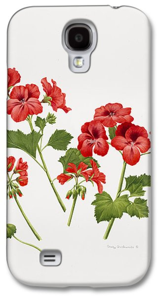 Pelargonium Geranium Galaxy S4 Case by Sally Crosthwaite