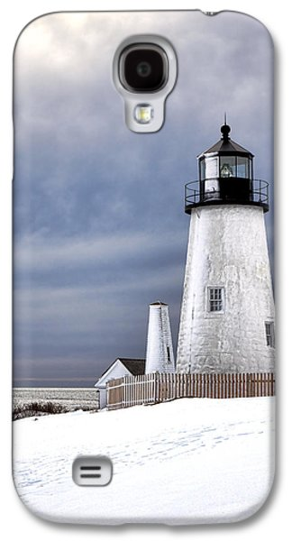 Pemaquid Point Lighthouse In Winter Galaxy S4 Case by Olivier Le Queinec