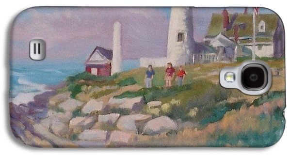 New England Lighthouse Paintings Galaxy S4 Cases - Pemiquid Light Galaxy S4 Case by Michael McDougall
