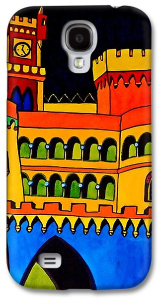 Galaxy S4 Case featuring the painting Pena Palace Portugal by Dora Hathazi Mendes