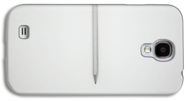 Pencil On A Blank Page Galaxy S4 Case by Scott Norris