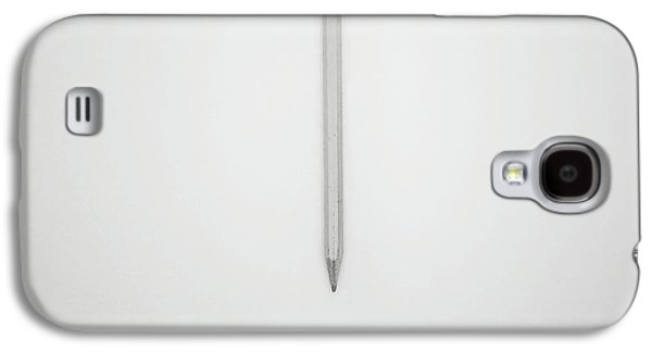 Minimalist Galaxy S4 Case - Pencil On A Blank Page by Scott Norris