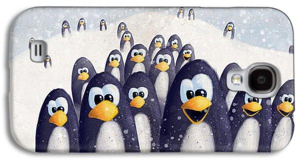 Penguin Winter Galaxy S4 Case by David Breeding