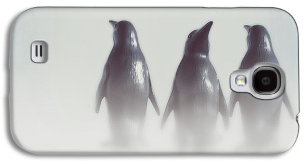 Penguins In The Mist Galaxy S4 Case