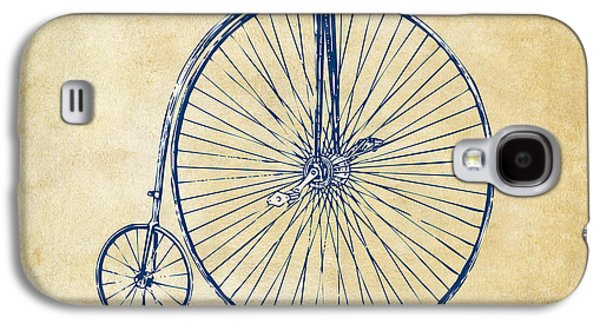 Independence Galaxy S4 Cases - Penny-Farthing 1867 High Wheeler Bicycle Vintage Galaxy S4 Case by Nikki Marie Smith