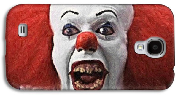 Pennywise The Clown Galaxy S4 Case by Taylan Apukovska