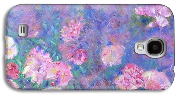 Galaxy S4 Case featuring the painting Peonies by Claire Bull