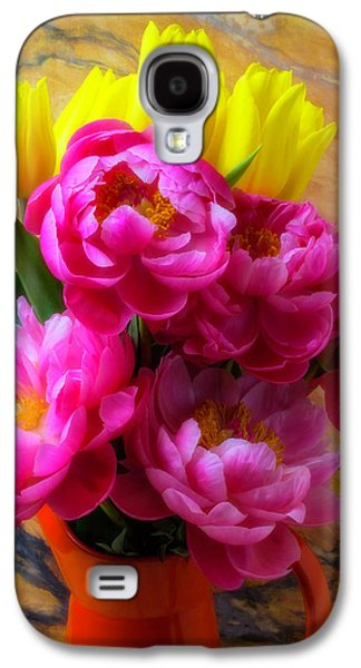 Peony's And Tulips In Pitcher Galaxy S4 Case