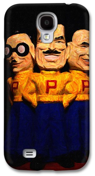 Car Mascot Digital Art Galaxy S4 Cases - Pep Boys - Manny Moe Jack - Painterly - 7D17428 Galaxy S4 Case by Wingsdomain Art and Photography