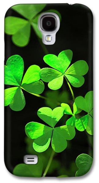 Perfect Green Shamrock Clovers Galaxy S4 Case