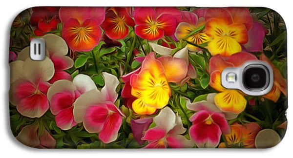 Radiance Pansies Galaxy S4 Case