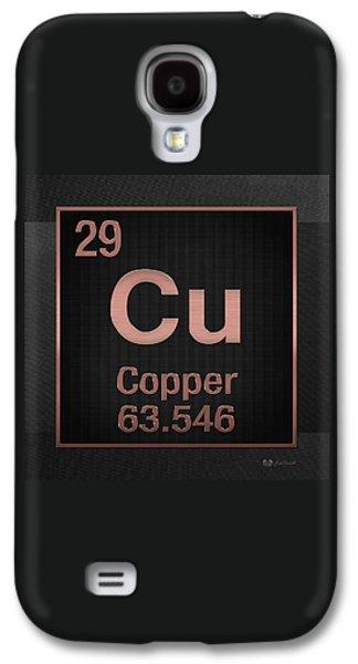 Periodic Table Of Elements - Copper - Cu - Copper On Black Galaxy S4 Case