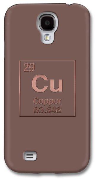 Periodic Table Of Elements - Copper - Cu - Copper On Copper Galaxy S4 Case