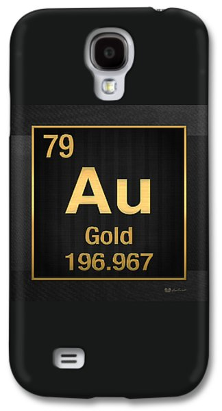Periodic Table Of Elements - Gold - Au - Gold On Black Galaxy S4 Case