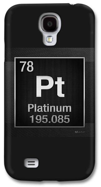 Periodic Table Of Elements - Platinum - Pt - Platinum On Black Galaxy S4 Case