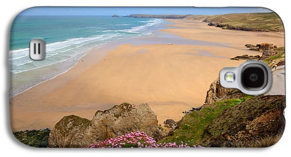 Perranporth Beach North Cornwall England One Of The Best Surfing Beaches In The Uk Galaxy S4 Case