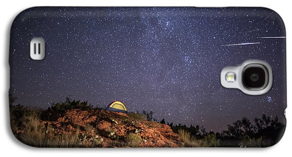Perseids Over Caprock Canyons Galaxy S4 Case by Melany Sarafis