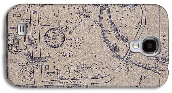 Peter Pan's Map Of Kensington Gardens Galaxy S4 Case