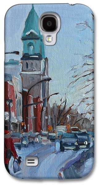 Petite Italie, Montreal Winter Scene Galaxy S4 Case by Darlene Young