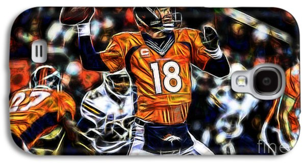 Peyton Manning Collection Galaxy S4 Case by Marvin Blaine
