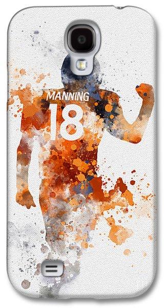 Peyton Manning Galaxy S4 Case by Rebecca Jenkins