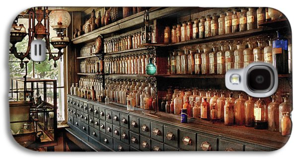 Pharmacy - So Many Drawers And Bottles Galaxy S4 Case by Mike Savad