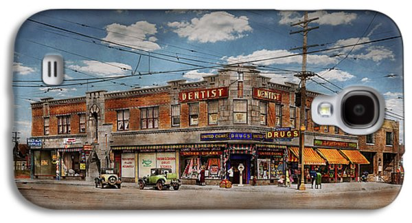 Pharmacy - The Corner Drugstore 1910 Galaxy S4 Case by Mike Savad
