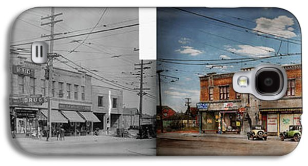 Pharmacy - The Corner Drugstore 1910 - Side By Side Galaxy S4 Case by Mike Savad