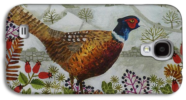 Pheasant And Snowy Hillside Galaxy S4 Case