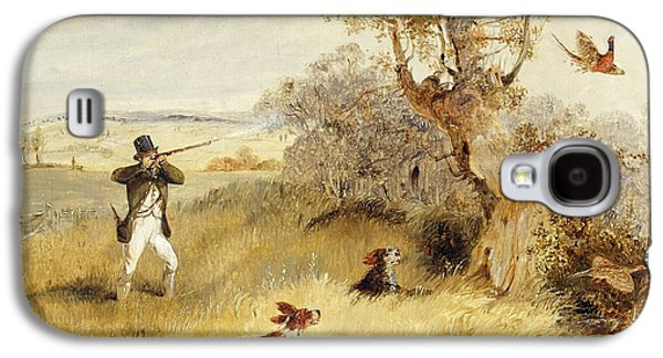 Dogs Galaxy S4 Case - Pheasant Shooting by Henry Thomas Alken
