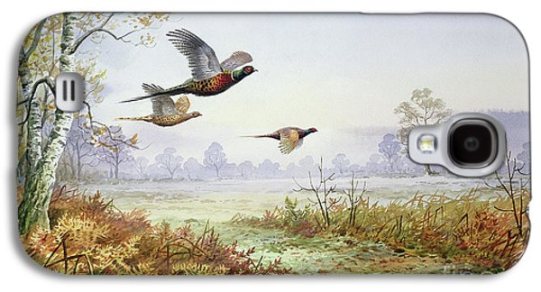 Pheasants In Flight  Galaxy S4 Case by Carl Donner