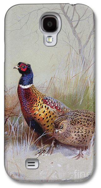 Pheasants In The Snow Galaxy S4 Case