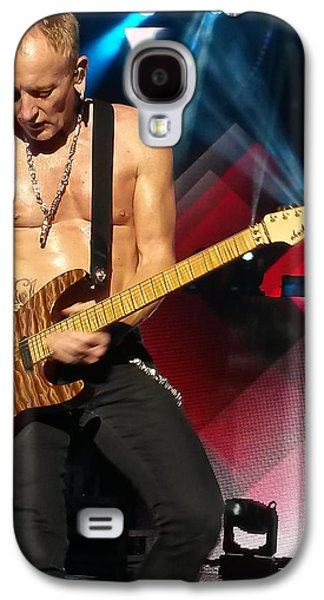 Phil Collen Of Def Leppard 2 Galaxy S4 Case by David Patterson