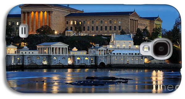 Philadelphia Art Museum And Fairmount Water Works Galaxy S4 Case by Gary Whitton