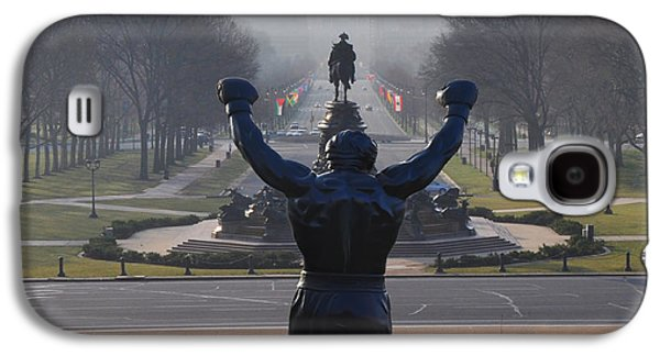 Philadelphia Champion - Rocky Galaxy S4 Case by Bill Cannon