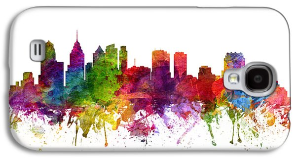 Philadelphia Cityscape 06 Galaxy S4 Case by Aged Pixel