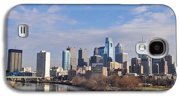 Philadelphia From The South Street Bridge Galaxy S4 Case by Bill Cannon