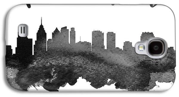 Philadelphia Pennsylvania Skyline 18 Galaxy S4 Case by Aged Pixel