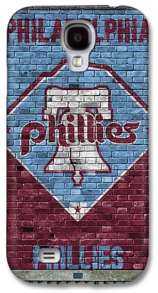 Philadelphia Phillies Brick Wall Galaxy S4 Case by Joe Hamilton