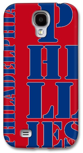 Philadelphia Phillies Typography Galaxy S4 Case by Pablo Franchi