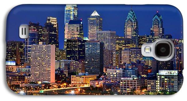Philadelphia Skyline At Night Galaxy S4 Case by Jon Holiday