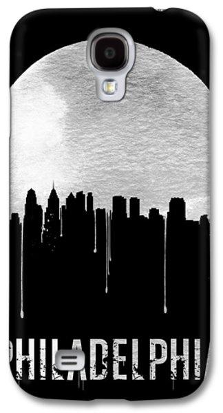 Philadelphia Skyline Black Galaxy S4 Case by Naxart Studio