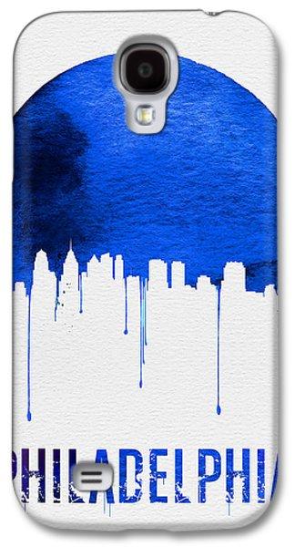 Philadelphia Skyline Blue Galaxy S4 Case by Naxart Studio